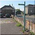 SO6303 : Direction and distances sign in Bream Road Car Park, Lydney by Jaggery