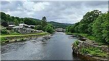 NN9357 : River Tummel at Pitlochry by Chris Morgan