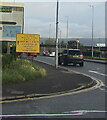 ST3089 : COVID-19 vaccination centre direction sign, Crindau, Newport by Jaggery