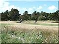 SH3533 : Golfers on Pwllheli Golf Club course by Oliver Dixon