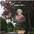 SK5239 : The sign of the Admiral Rodney by David Lally