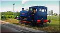 SK2406 : Statfold Barn Railway - standard gauge interloper by Chris Hodrien