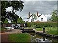 SJ9214 : Penkridge Lock and Bridge in Staffordshire by Roger  Kidd