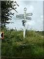 TM0435 : Signpost on Green Lane by Geographer