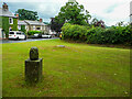 NY4348 : Pine cone sculpture on the village Green, Wreay by Humphrey Bolton