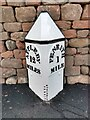 NY5329 : Old Milepost by the former A66, Carleton Road, West of Frenchfield, Penrith Parish by Terry Moore