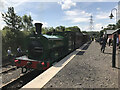 NZ1954 : Tanfield Railway: No 1015 'Horden' at East Tanfield Station by Anthony Foster