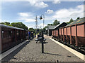NZ1954 : Tanfield Railway: East Tanfield Station by Anthony Foster