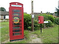 TL8935 : Adopted Telephone Box & Lamarsh Postbox by Geographer