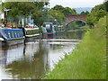 SJ4860 : Narrowboats moored next to Nixon's Bridge No 114 by Mat Fascione