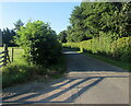 SO3605 : Unclassified road south of Bettws Newydd, Monmouthshire by Jaggery