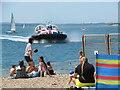 SZ6398 : I.O.W Hovercraft beaching at Southsea by Roy Hughes