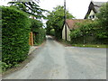TL8637 : Church Lane, Great Henny by Geographer