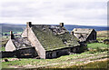 NY7845 : Farmhouse at Roughside in September 1989 by Trevor Littlewood