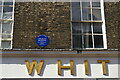 TM1644 : Ipswich: plaque on the former Great White Horse Hotel, Tavern Street by Christopher Hilton