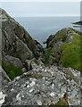 NL9839 : Tiree - Hynish - Rocky coastal inlet  by Rob Farrow