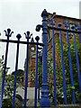 SE2935 : Quarry Mount primary school - railings by Stephen Craven