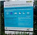 ST3088 : Car park information board, Godfrey Road, Newport by Jaggery