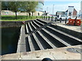 SJ3489 : Steps and seating, Duke's Dock, Liverpool by Christine Johnstone