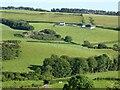 SN5570 : Farmland to the east of Llanrhystud by Philip Halling