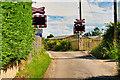 SE2991 : Ham Hall Level Crossing by David Dixon