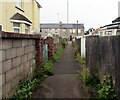 ST3091 : Weed-lined path in Malpas, Newport by Jaggery