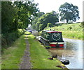 SJ5758 : Narrowboat moored along the Shropshire Union Canal by Mat Fascione