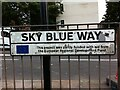 SP3479 : Road sign, Sky Blue Way, Coventry by Alan Paxton
