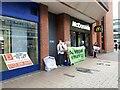 SE3033 : Vegan protest, Merrion Street, Leeds by Stephen Craven