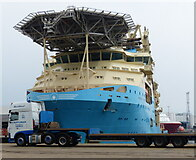 NJ9505 : Maersk Installer at Clipper Quay by Mat Fascione