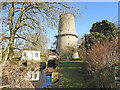 TF8600 : Little Cressingham combined wind and water mill by Adrian S Pye