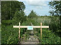 SD4583 : Closed boardwalk, Foulshaw Moss nature reserve by Christine Johnstone