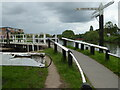 SO8453 : Junction of canal and river, Worcester by Chris Allen