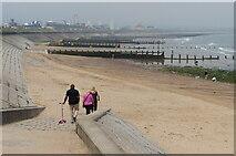 NJ9505 : Slipway to the beach at Footdee, Aberdeen by Mat Fascione