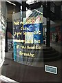 SP3378 : Untitled artwork in window of Theatre Absolute, City Arcade, Coventry by Alan Paxton