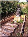 SP3379 : Our Lady of Coventry statue in Priory ruins, Coventry by Alan Paxton