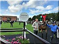 TL6161 : Leaving the parade ring at Newmarket's July Course by Richard Humphrey