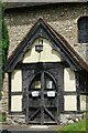 TQ5558 : St Mary's Church Door in Kemsing by John P Reeves