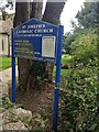 SO8000 : Catholic Church information board, Nympsfield, Gloucestershire by Jaggery