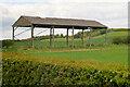NU1333 : Dutch Barn near Outchester by David Dixon
