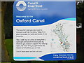 SP5006 : Oxford Canal Information Board by David Hillas