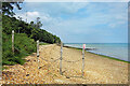 SZ5295 : Barrier on the Beach by Des Blenkinsopp