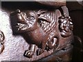 SP3189 : Carved misericord, St. Mary the Virgin Church, Astley by Alan Paxton