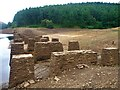 SK1691 : Foundations of Birchinlee Viaduct by Graham Hogg