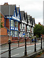 SO8456 : A row of guest houses on Barbourne Road, Worcester by Chris Allen