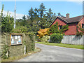 SU5464 : Parish Notices, Hyde End Lane by Des Blenkinsopp