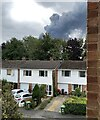 SP3164 : Smoke from a fire in south Leamington by Robin Stott