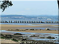 NT1977 : Cramond Island Causeway and the Firth of Forth by M J Richardson