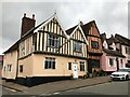 TL9149 : Houses on the junction of High Street and Hall Road in Lavenham by Richard Humphrey