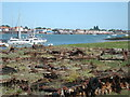 TQ9495 : Old pontoons at Wallasea Marina by John Myers